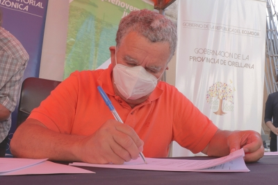 Firma convenio para construcción de alcantarillado pluvial en Flor de Pantano