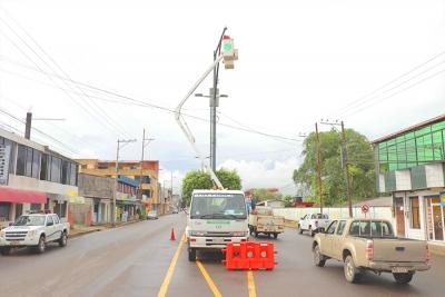 Alcaldía realiza mantenimiento de cámaras de seguridad