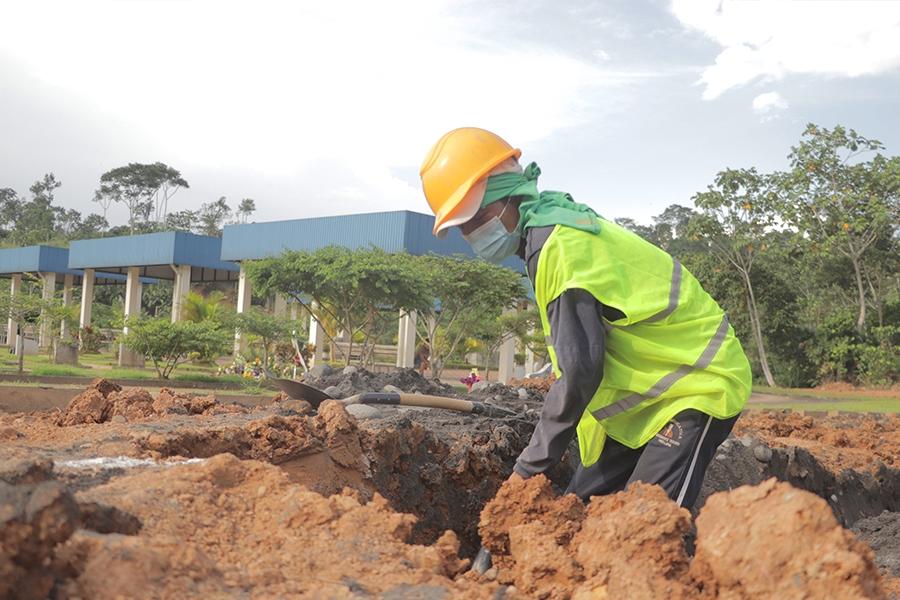 Trabajos de la tercera etapa en el Cementerio General Victoria están en marcha